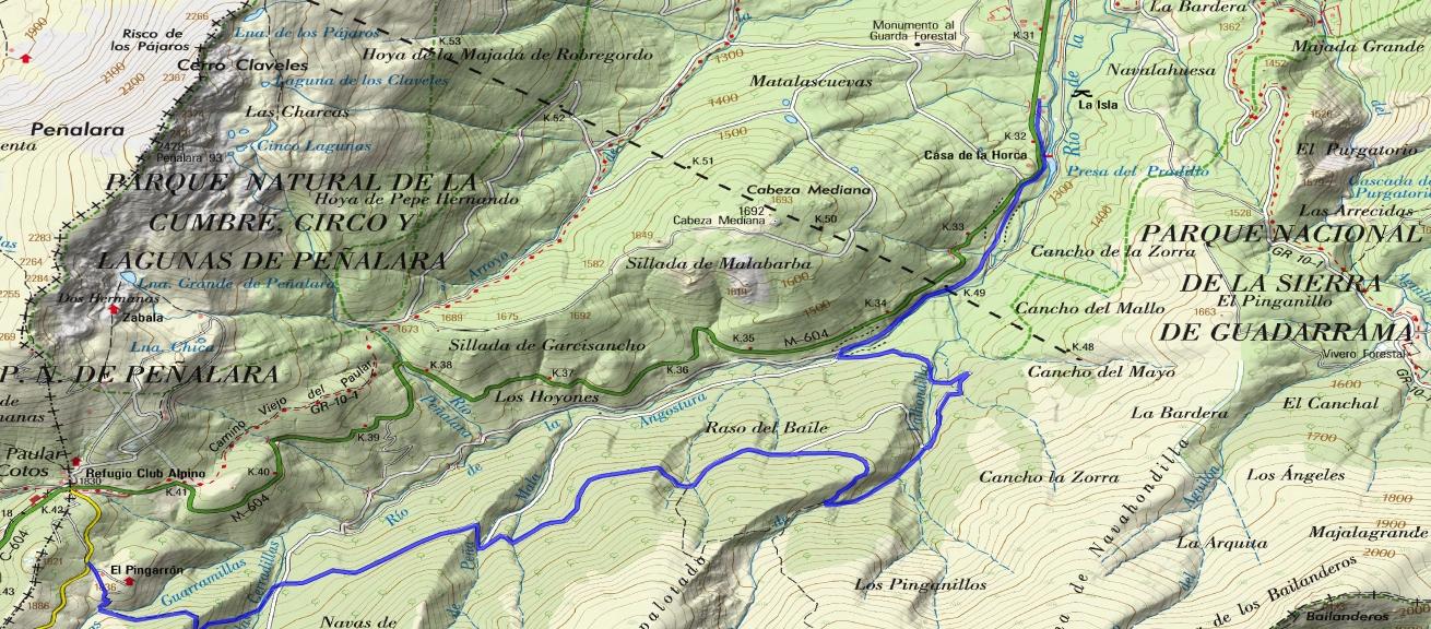 ruta valle La Angostura