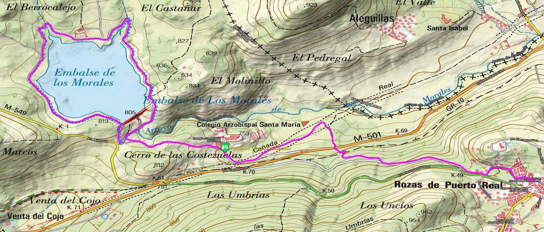 Ruta de los Castaños topo