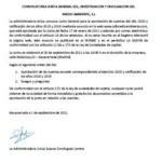 Convocatoria Junta General. Cuentas 2020